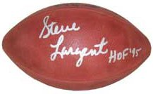 Steve Largent signed Official NFL Rozelle Gameday Football HOF 95 (Seattle Seahawks)