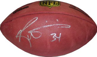 Ricky Williams signed Official NFL New Duke Football