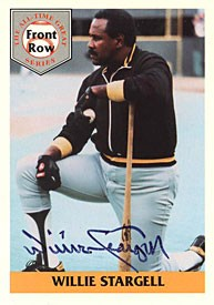 Willie Stargell Autographed / Signed 1992 Front Row Insert Card #1 - Pittsburgh Steelers