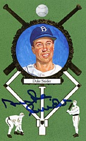 Duke Snider Autographed / Signed 1990 Perez-Steele Gallery No.00195/10000 Baseball PostCard