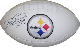 Rod Woodson signed Pittsburgh Steelers Logo Football (left side sig)