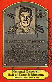 Stanley Coveleski Autographed / Signed Baseball Red Hall of Fame Plaque Postcard