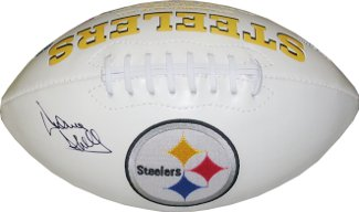 Donnie Shell signed Pittsburgh Steelers Logo Football