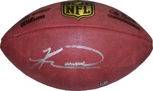 Knowshon Moreno signed Official NFL Duke Football (Miami Dolphins)- Moreno Hologram