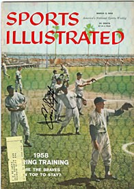 Enos Slaughter Autographed / Signed Sports Illustrated Magazine March 3 1958