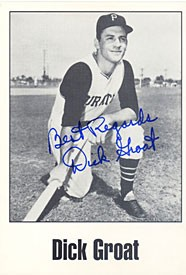Dick Groat Autographed / Signed Postcard