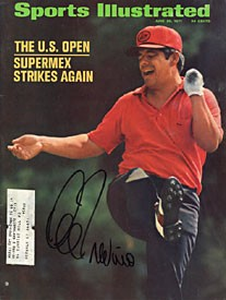 Lee Trevino Signed Sports Illustrated 6/28/71 Wins the U.S. Open