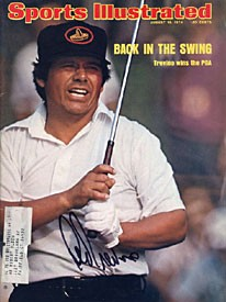 Lee Trevino Signed Sports Illustrated - 8/19/74 - Wins the PGA