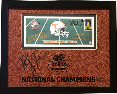 Phillip Fulmer Signed Tennessee Volunteers 11X135 Custom Framed LTD 1999 National Champs Tostitos Bowl Head Coach PSA Pass