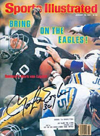 Mark Van Eeghen Autographed / Signed Sports Illustrated January 19 1981