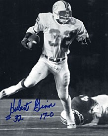 Hubert Ginn Autographed / Signed Miami Dophins Football 8x10 Photo