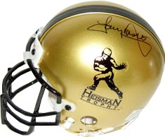 Tony Dorsett signed Heisman Gold Authentic Mini Helmet (Pittsburgh Panthers) left side sig