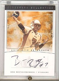 Ben Roethlisberger Flair Autograph Collection Miami Card 011/100