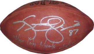 Kevin Dyson signed Official NFL Tagliabue Football Music City Miracle 1/8/00