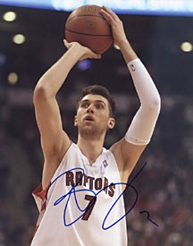 Andrea Bargani Autographed / Signed Toronto Raptors 8x10 Photo