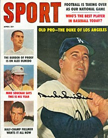 Duke Snider Autographed / Signed Sport Magazine April 1960