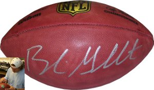 Blaine Gabbert signed Official NFL New Duke Football (Tennessee Titans)