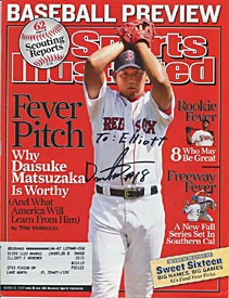 Daisuke Matsuzaka Autographed/Signed Sports Illustrated Cover