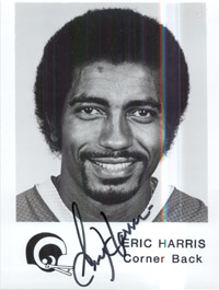 Eric Harris (Los Angeles Rams) Signed 5x7 B&W Promo Photo
