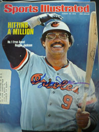 Reggie Jackson (Baltimore Orioles) Signed Sports Illustrated 8/30/76