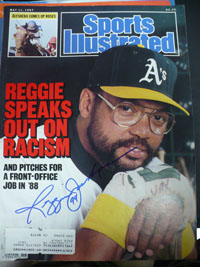 Reggie Jackson (Oakland A's) Signed Sports Illustrated 5/11/87