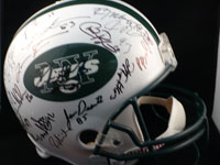 New York Jets (2004) Signed Replica Helmet By the 2004 New York Jets