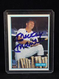 Mickey Mantle (New York Yankees) Signed Authentic Sports Autographs Card Number 65 1974 Visit