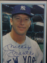 Mickey Mantle (New York Yankees) Signed 1982 Officially Authorized Mickey Mantle Card Set (Limited Edition, Set No 1381 of 5000, Card # 1)