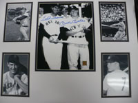 Mickey / Williams, Ted Mantle Signed B&W 8x10 Photo double matted with 4 4x6 photo's