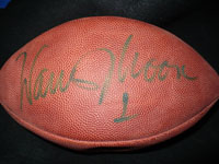Warren Moon Signed Official Super Bowl XXX NFL Football (Slight Fading)