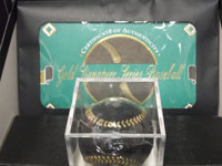 Stan Musial Signed Signature Series Baseball on the Sweet Spot in Gold Ink with original Certificate and Box (Baseball is wrapped in plastic still)