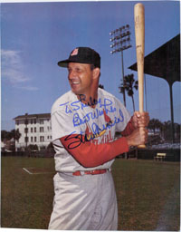 Stan Musial (St. Louis Cardinals) Signed 8x10 (P)