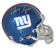 Ron Dayne Autographed New York Giants Authentic Mini Helmet by Riddell