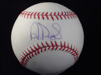 Albert Pujols Signed MLB Baseball in Blue ink on the Sweet Spot