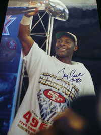 Jerry Rice Signed 12x18
