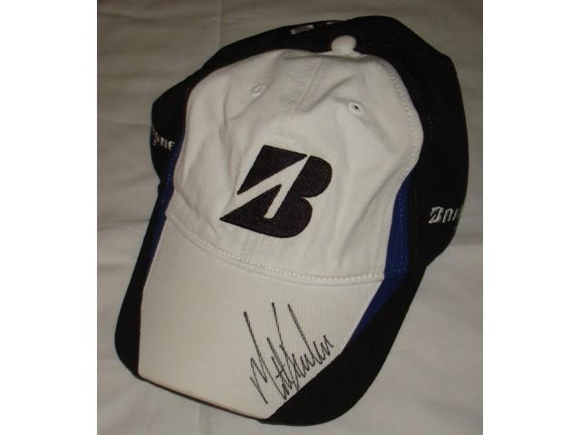 764e297ccfd Matt Kucher Hand Signed   Autographed White and Black Bridgestone Golf Hat