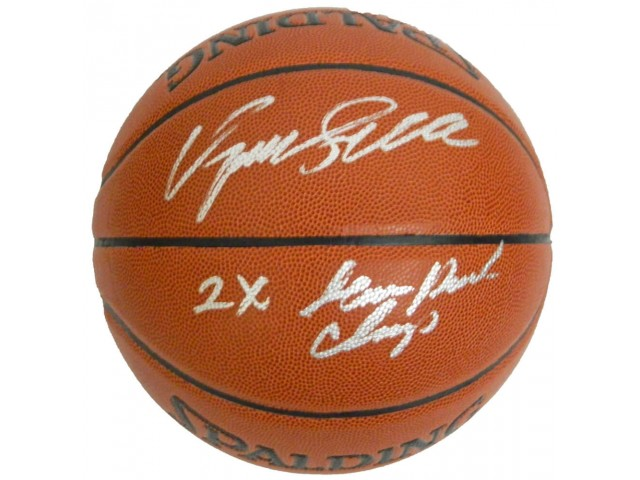 Dominique Wilkins Signed Spalding NBA Indoor/Outdoor Basketball w/2x Slam Dunk Champ