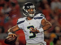 Russell Wilson (Seattle Seahawks) Signed 11x14 Photo