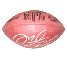 Mike Alstott Autographed Official Tagliabue NFL Game Football