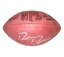 Ron Dayne Autographed Official Tagliabue NFL Game Football