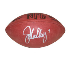 John Elway Autographed Official Tagliabue NFL Game Football