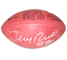 Jerry Rice Autographed Official Tagliabue NFL Game Football
