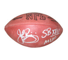 "John Riggins Autographed Official Rozelle NFL Football signed ""SB17 MVP"""