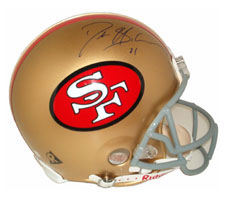 Deion Sanders Autographed Helmet San Francisco 49ers Throwback Pro Line by Riddell