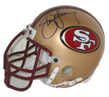 Steve Young Autographed San Francisco 49ers Throwback Authentic Mini Helmet by Riddell