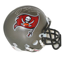 Mike Alstott Autographed Tampa Bay Buccaneers Authentic Mini Helmet by Riddell