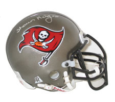 Shaun King Autographed Tampa Bay Buccaneers Authentic Mini Helmet by Riddell