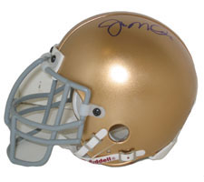 Joe Montana Autographed Notre Dame Authentic Mini Helmet by Riddell