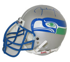 Rick Mirer Autographed Seattle Seahawks Throwback Authentic Mini Helmet by Riddell