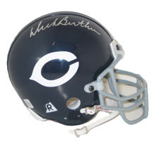 Dick Butkus Autographed Chicago Bears Throwback Authentic Mini Helmet by Riddell